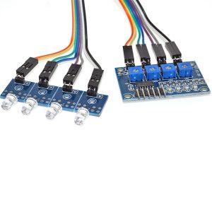 LM339 4 Channel Photodiode Sensor Light Sensor Module