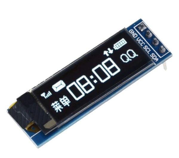 0.91 Inch 128 x 32 IIC I2c White OLED LCD Display Module 3.3 / 5v