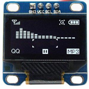 0.96 Inch White I2C IIC OLED LCD Module 4pin