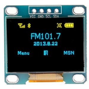 0.96 Inch Yellow-Blue I2C IIC OLED LCD Module 4pin