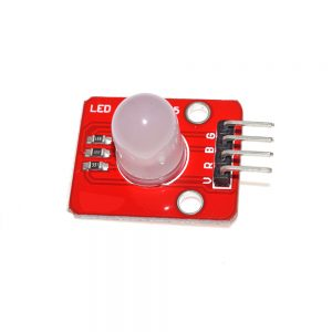 This is a 10MM RGB LED display module. You can make it display colorful light with PWM duty cycle.