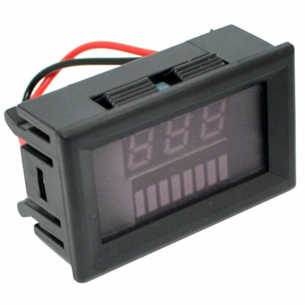 12-60V / 72V Charge Level Indicator Voltmeter Lithium/Lead-acid Battery