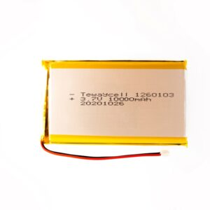 1260103 Lithium ion polymer Battery (LiPo) (3.7V 10000mAh)