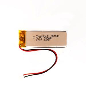 Lithium ion polymer Battery (LiPo) 361643 (3.7V 200mAh)