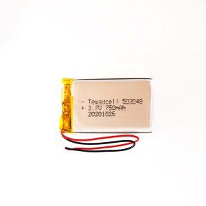Lithium ion polymer Battery (LiPo) 503048 (3.7V 750mAh)