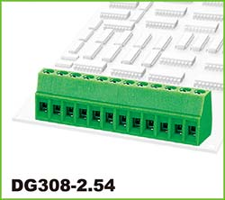 Screw Terminal Block 0.1″ (2.54 mm) Pitch, Side Entry
