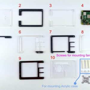 9 Layers Acrylic Case for Raspberry Pi 4
