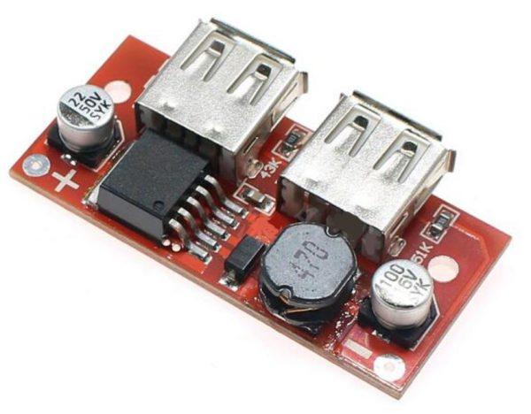 Dual USB 5V DC-DC LM2596