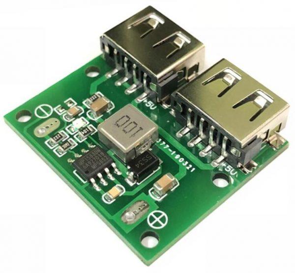 Dual USB 9V12V24V to 5V 3A