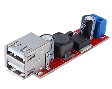 Dual USB DC-DC Step-Down Power Supply Converter